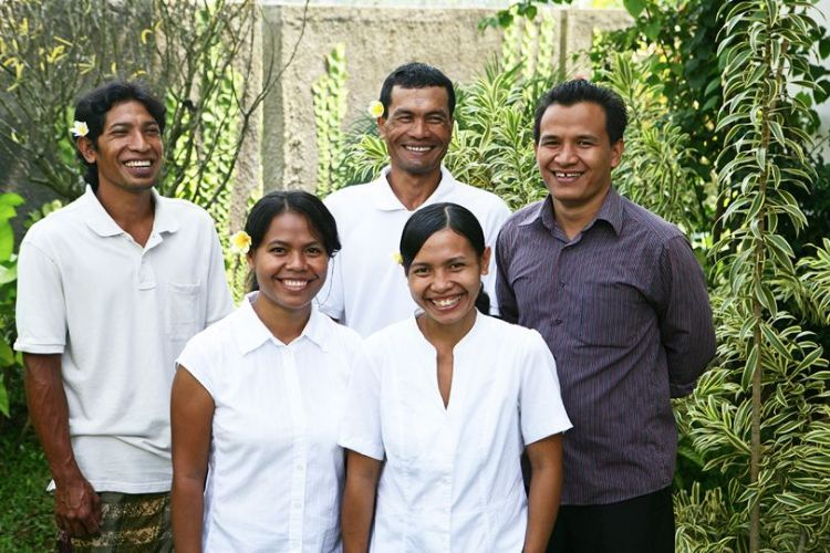 Villa Bamboo housekeeping and maintenance staff